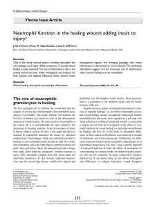 Neutrophil function in the healing wound: adding insult to injury?