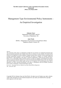 Management Type Environmental Policy Instruments
