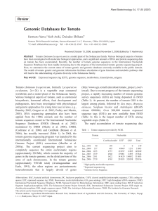 Genomic Databases for Tomato