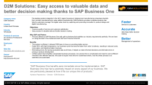 Headline Runs Here and Here and Here with SAP® Solution