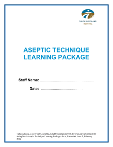 aseptic technique learning package
