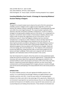 Inventing Midwifery from Scratch. A Strategy for Improving Midwives