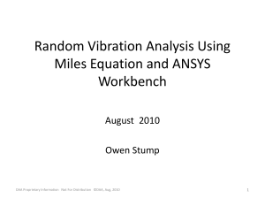 Random Vibration Analysis Using Miles Equation and Workbench