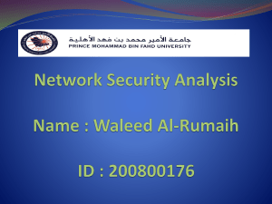 Network Security Analysis Prepared By: cowave Communication