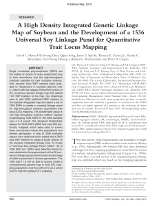 A High Density Integrated Genetic Linkage Map of Soybean and the