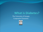 What is Diabetes? - University of Georgia