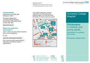 University College Hospital Chickenpox in children and young adults