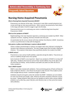 Nursing Home Acquired Pneumonia