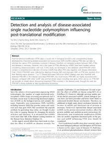 Detection and analysis of disease-associated single nucleotide
