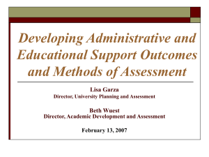 Developing Administrative and Educational Support Outcomes and