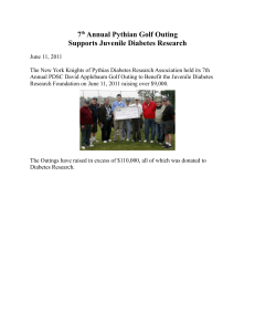 7th Annual Pythian Golf Outing Supports Juvenile Diabetes Research