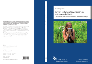 Airway inflammatory markers in asthma and rhinitis
