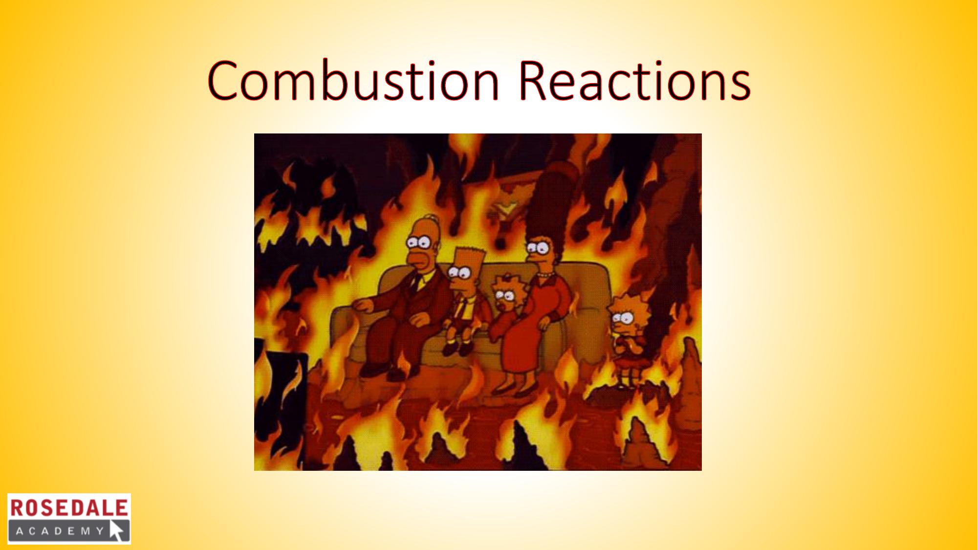 combustion of alknols