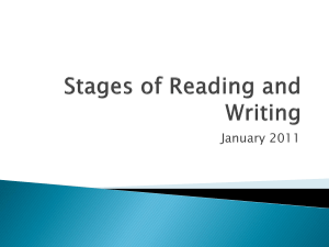 Stages of Reading and Writing - SPA