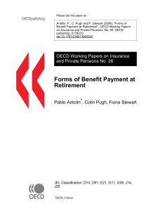 Forms of Benefit Payment at Retirement