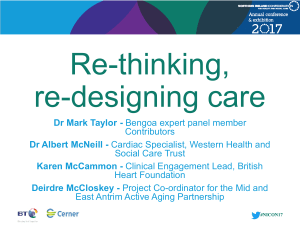 Parallel session 6: Rethinking, redesigning care