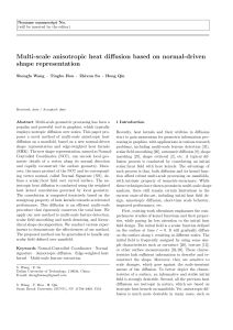 Multi-scale anisotropic heat diffusion based on normal