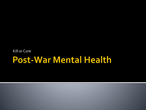 Post-War Mental Health