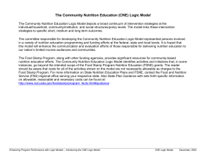 The Community Nutrition Education (CNE