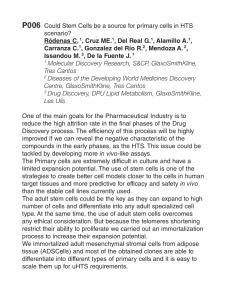 P006 Could Stem Cells be a source for primary cells in HTS scenario?