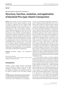 Structure, function, evolution, and application of