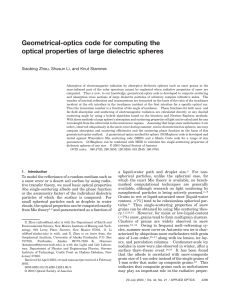 Geometrical-optics code for computing the optical