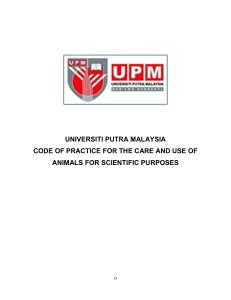 universiti putra malaysia code of practice for the care