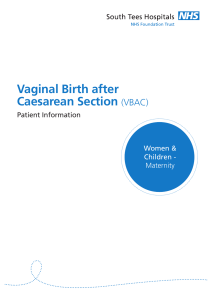 Vaginal Birth after Caesarean Section (VBAC)