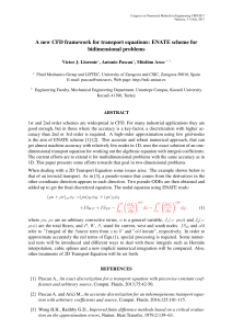A new CFD framework for transport equations: ENATE scheme for