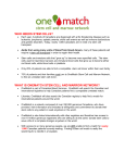 what is onematch stem cell and marrow network?