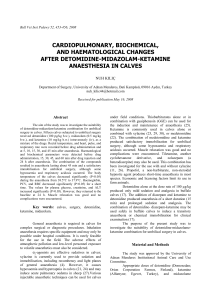cardiopulmonary, biochemical, and haematological changes after