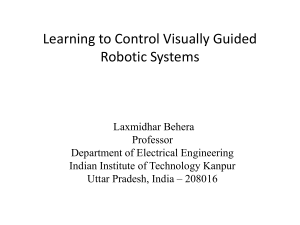 Learning to Control Robotic Systems Presented at