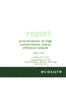 Prioritisation of high conservation status offshore islands