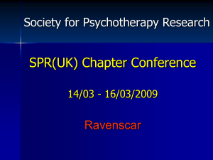 presentation - Society for Psychotherapy Research