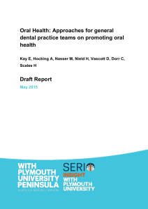 Oral Health: Approaches for general dental practice teams on