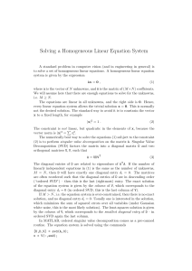 Solving a Homogeneous Linear Equation System