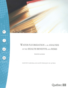 Water fluoridation : an analyses of the health benefits and