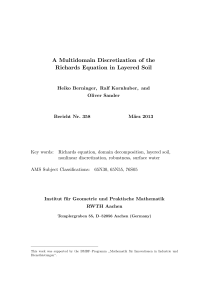 A Multidomain Discretization of the Richards Equation in Layered Soil