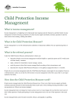 Child Protection Income Management fact sheet