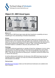Object 23: ABO blood types
