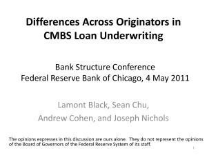 Did moral hazard and adverse selection affect CMBS loan quality?