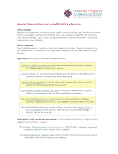 General Diabetes Information and AADE Self