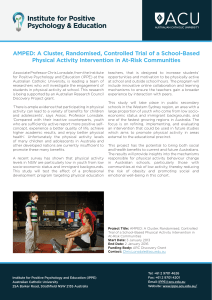 AMPED: A Cluster, Randomised, Controlled Trial of a School