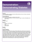 Demonstration: Demonstrating Diabetes