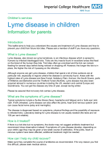 Lyme disease in children - Imperial College Healthcare NHS Trust