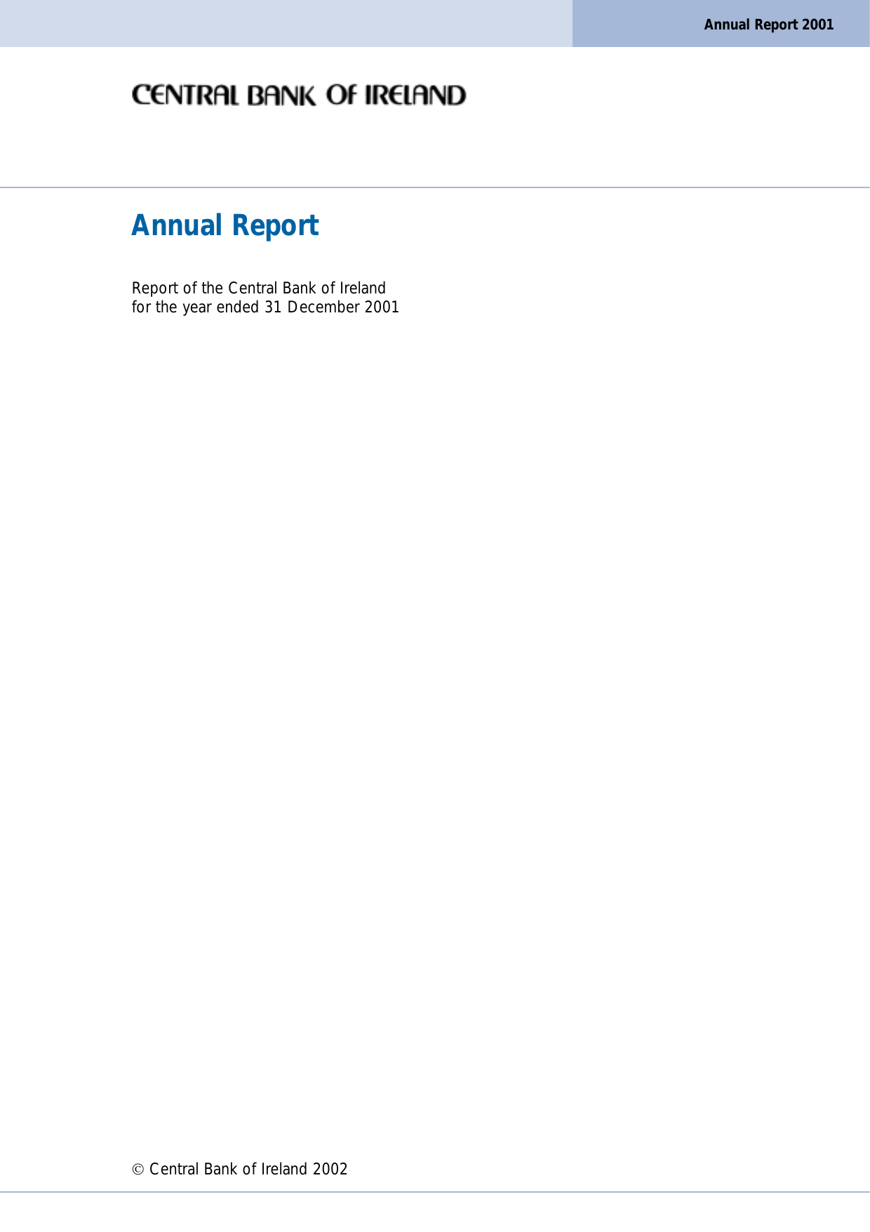 Annual Report - Central Bank of Ireland