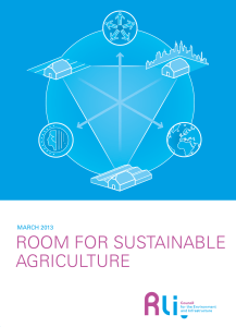Room for Sustainable Agriculture - Council for the Environment and
