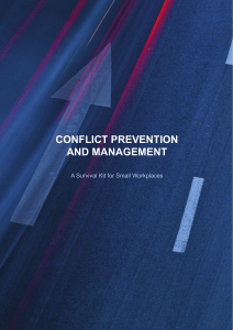 conflict prevention and management