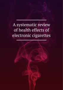 A systematic review of health effects of electronic cigarettes