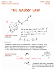the gauss` law - Portland State University